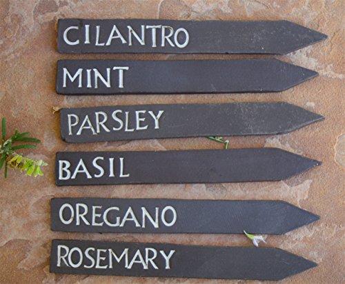 l set of 6, handmade ceramic garden sign (Dads Garden Sign)
