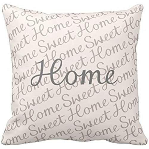 Y2pn4r Home Sweet Home Script diseño en Color Crema, Gris ...