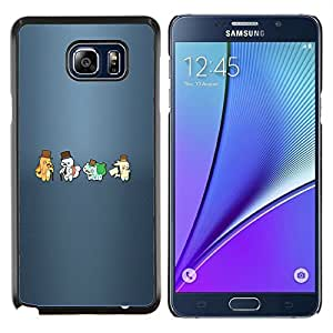 LECELL--Funda protectora / Cubierta / Piel For Samsung Galaxy Note 5 5th N9200 -- Meter Hipsters Monster --