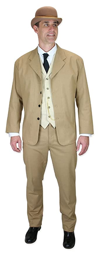 1900s Edwardian Men's Suits and Coats  Cotton Blend Baxter Sack Coat $139.95 AT vintagedancer.com