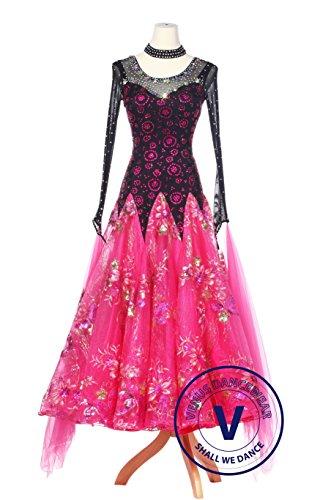 d2426d6ef Pink Floral Dots Foxtrot Waltz Smooth Ballroom Standard Comp.
