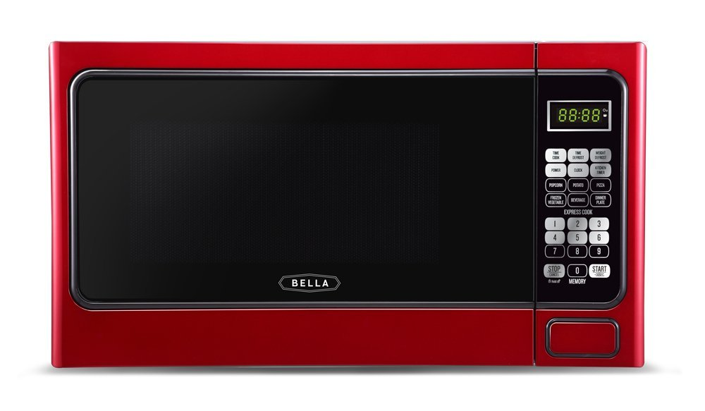 Bella BMO11ABTBKD 1000-Watt Family Sized Digital Microwave 1.1 cu. ft. Metallic Red
