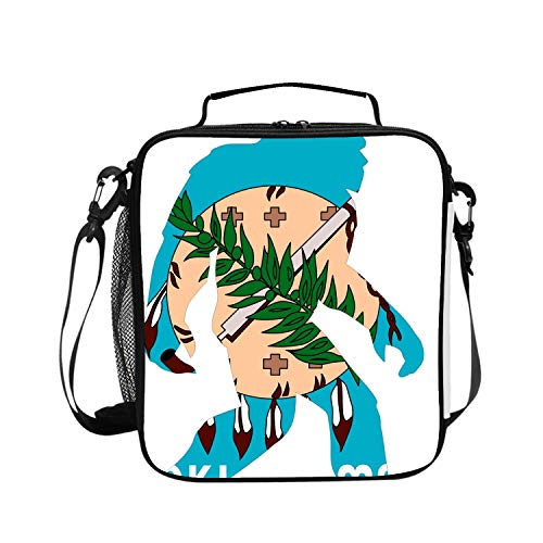 - Cooler Tote Insulated Lunch Bag Oklahoma Flag Bigfoot Outdoor Picnic Bag