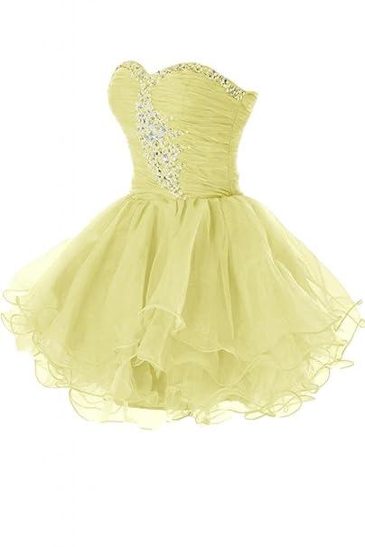 Sunvary Hot corto Organza escote corazón vestido de fiesta vestido de cóctel fiesta Prom Vestido