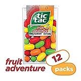 Tic Tac Fresh Breath Mints, Fruit Adventure, 1 oz Singles, 12 Count