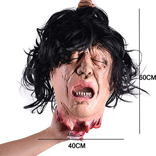 Terrorist devil Scary Black Long Hair Blooding Ghost Mask Cosplay Halloween Costumes Party Prop halloween -