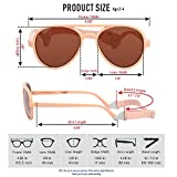 COCOSAND Toddler Sunglasses with Strap Classic
