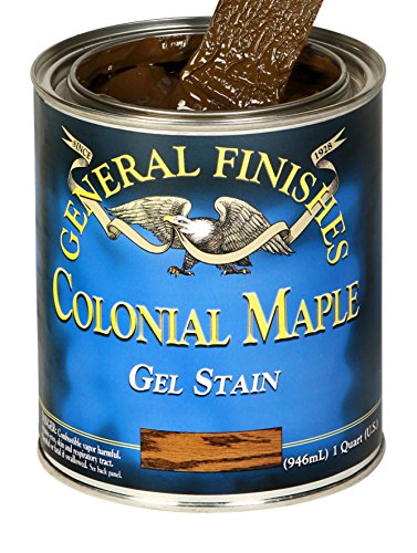 General Finishes CMQ Oil Base Gel Stain, 1, 1 Quart, Colonial Maple