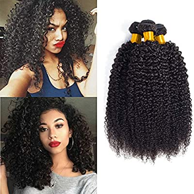Daimer Brazilian Kinky Curly Wave Bundles 10 12 14 Inch Unprocessed Virgin Human Hair Sew In Hair Extension Curly Short Natural Color Amazon Sg Beauty
