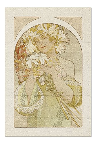 Fruit and Flower Vintage Poster (artist: Mucha, Alphonse) France c. 1897 (20x30 Premium 1000 Piece Jigsaw Puzzle, Made in USA!)