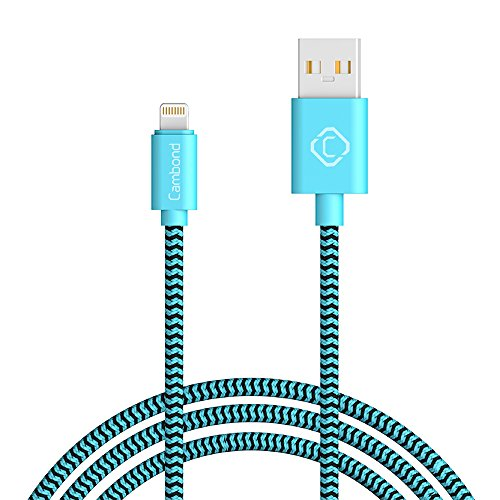iPhone Charger Cable, Cambond 10ft Long Durable Braided MFI Certified Lightning Cable for iPhone 8 8 Plus X, 7 7 Plus 6s 6s Plus, iPhone 6 6 Plus, 5s 5c 5, iPad Air, Mini, iPad Pro, iPad 4th gen(Blue)