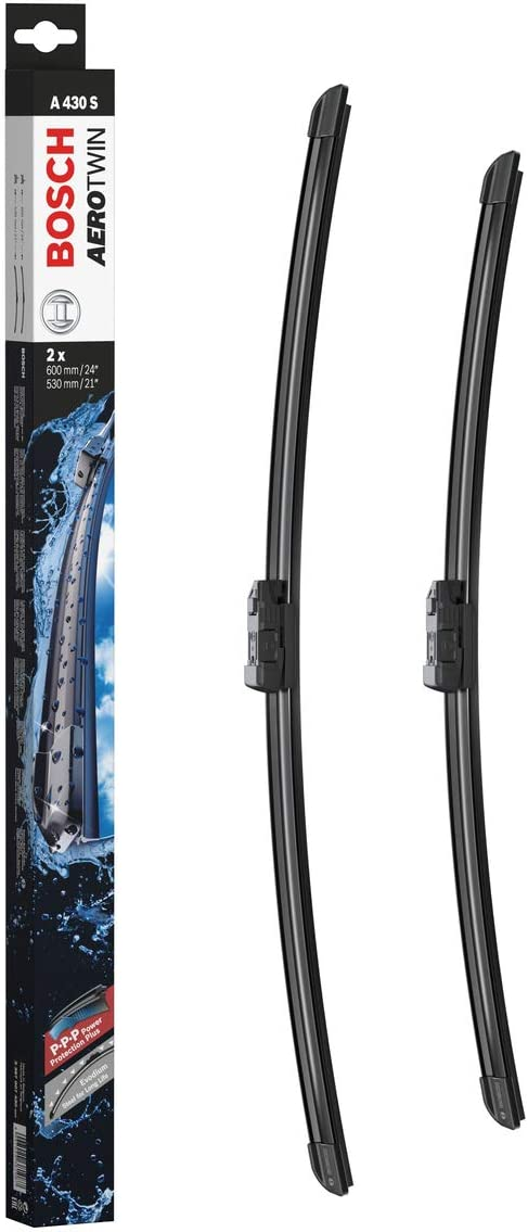 "Bosch Aerotwin 3397007430 Original Equipment Replacement Wiper Blade - 24""/21"" (Set of 2) Top Lock 19mm"