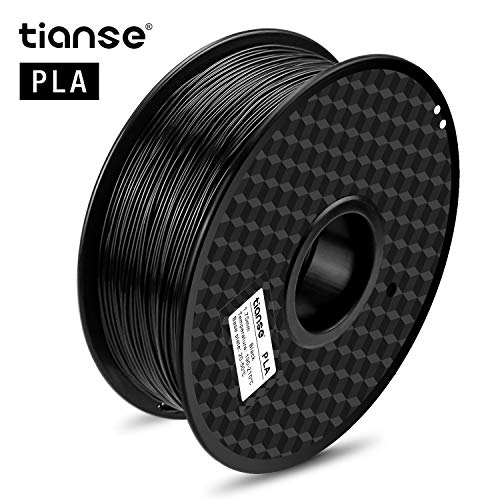TIANSE TS-3D-BK-1 Black PLA 1.75mm Filament 3D Printer Dimensional Accuracy +/- 0.03 mm 2.2 Pound Spool