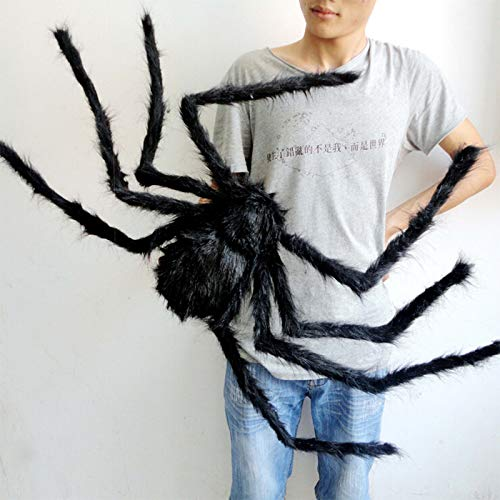 (30cm Soft Black Plush peluche Spider Funny Toy Scary Red Eyes for Halloween Decor Toys Party Stage Horror Props Prank Joke Scary)