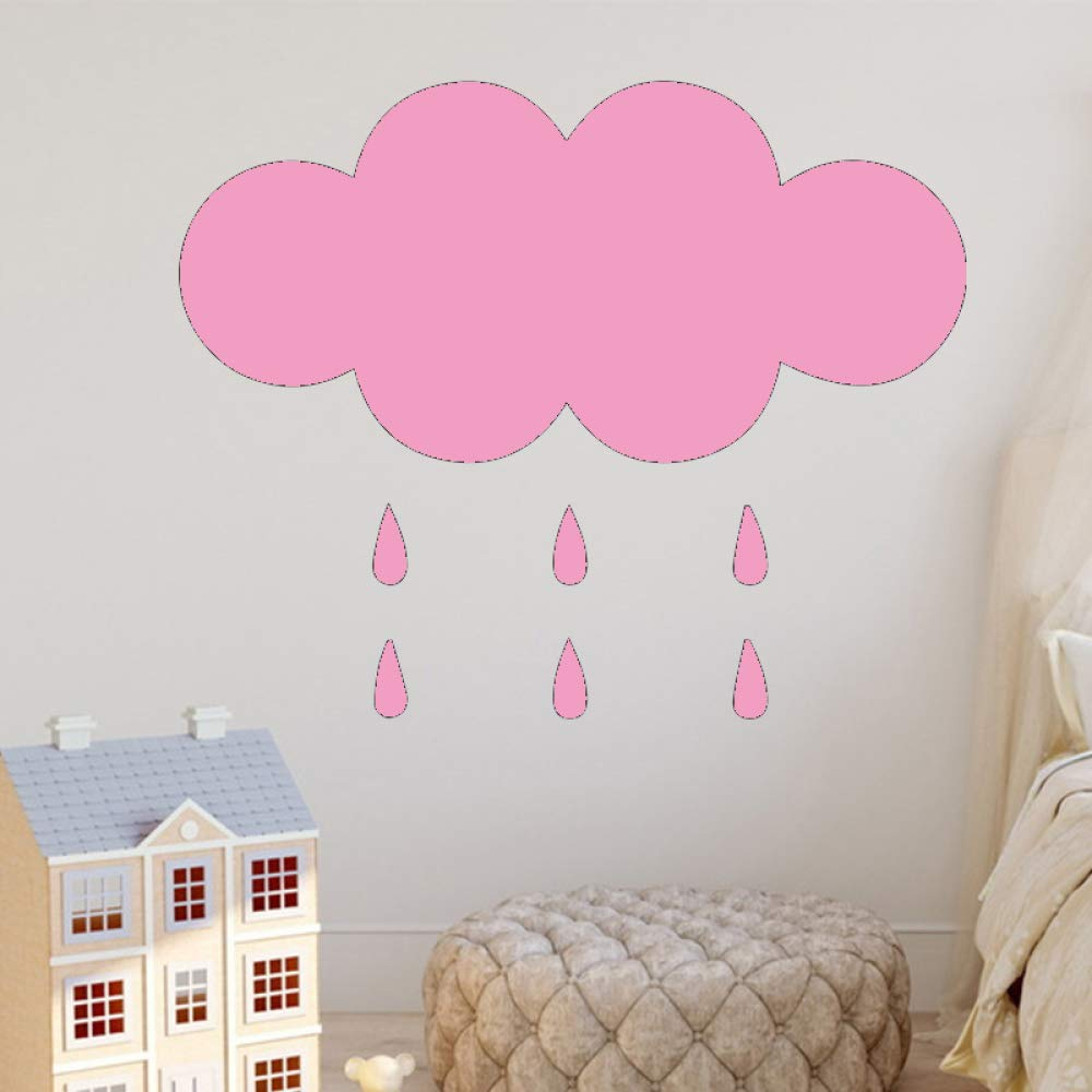Ajcwhml Patrón de Nube de Lluvia Pegatinas de Pared Pegatinas de ...