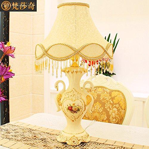 FDH Lámpara de mesa European-Style Vintage Cisne de cerámica ...