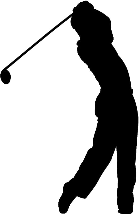 Samunshi Autoaufkleber Golfspieler Aufkleber In 7 Größen Und 25 Farben 10x6 5cm Schwarz Auto