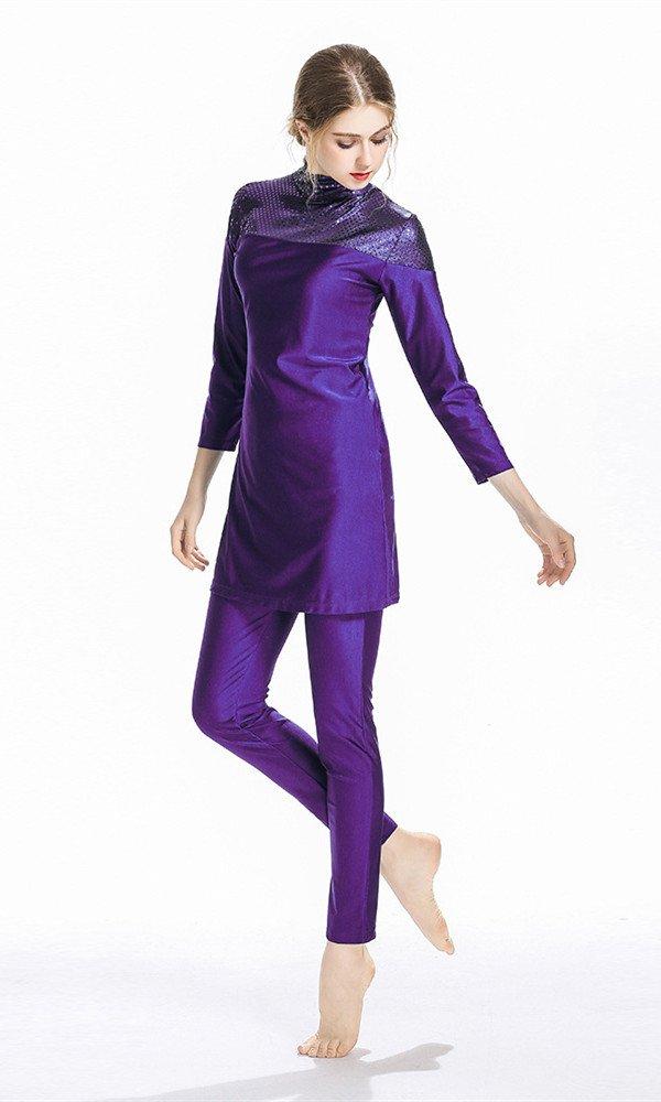 TianMai Nuovo Musulmano Costumi da Bagno per Donne Islamico Hijab Modesto Costume da Bagno Pieno Copertina Nuoto Beachwear Nuotare Completo da Uomo SPF 50 Costume