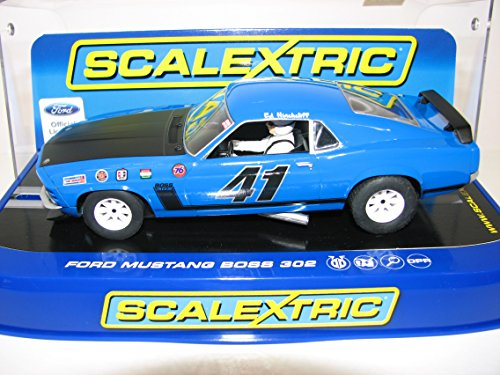 Scalextric C3613 Ford Mustang Boss 302 1969 Trans-Am Championship Ed Hinchliff Slot Car (1:32 Scale) (Ford Mustang Scalextric)