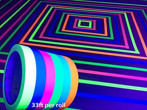 GreyParrot Tape UV Blacklight Reactive, (6 Pack), (6