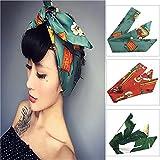 Vintage Women Headband 3 Pcs Cotton Floral Printed Turban Hair Wrap Retro Hairband