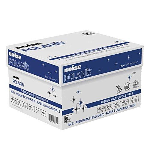 BOISE POLARIS PREMIUM MULTIPURPOSE PAPER, 8 1/2'' x 14'', Legal, 97 Bright White, 20 lb., 5000 Sheets/Carton, 30 Cartons/Pallet