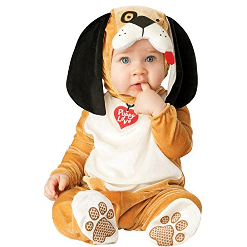 [JTENGYAO Infant Boys Girls Animal Dog Costume Halloween Christmas Pajamas Cosplay Costume(12-18 Months)] (Pictures Of Dogs In Halloween Costumes)