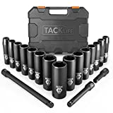 Drive Impact Socket Set, Tacklife 18pcs 1/2-inch Drive Deep Impact Socket...