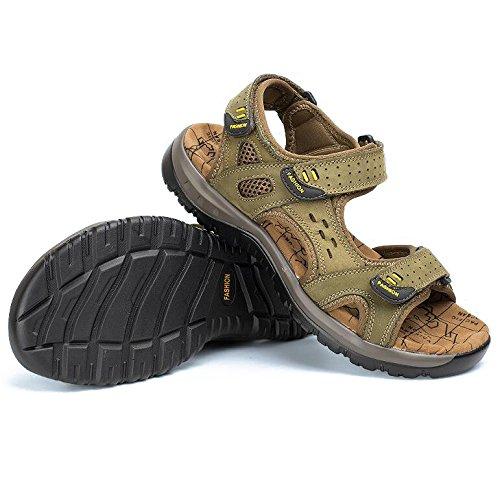Toe Pelle HGDR Da ArmyGreen Outdoor Comode Mens Sandali Estivi Open Trekking Sportivi Scarpe Spiaggia Da Sandali Calzature Calzature ZYIYwrfqx