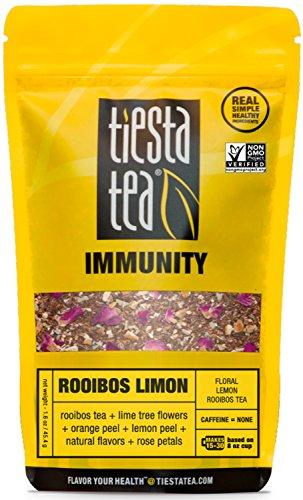 Floral Lemon Rooibos Tea | ROOIBOS LIMON 1.6 Ounce Pouch by TIESTA TEA | Caffeine Free | Loose Leaf Herbal Tea Immunity Blend | Non-GMO