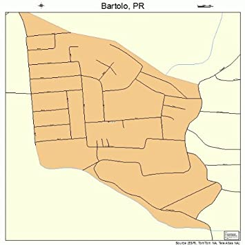 Amazon Street & Road Map of Bartolo Puerto Rico PR