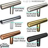 Alpine Hardware Solid Euro Style Bar Pull   10Pack