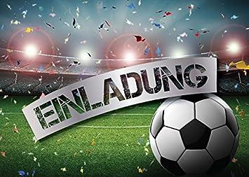 4 Einladungskarten Kindergeburtstag Jungen Fussball Geburtstag Jungs