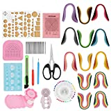 Quilling Paper DIY Tools Sets for Beginners, Advanced Quiller, Kids and Adults (900Pcs Gradient 9 Colors, 1040Pcs 26 Colors, Color Random)