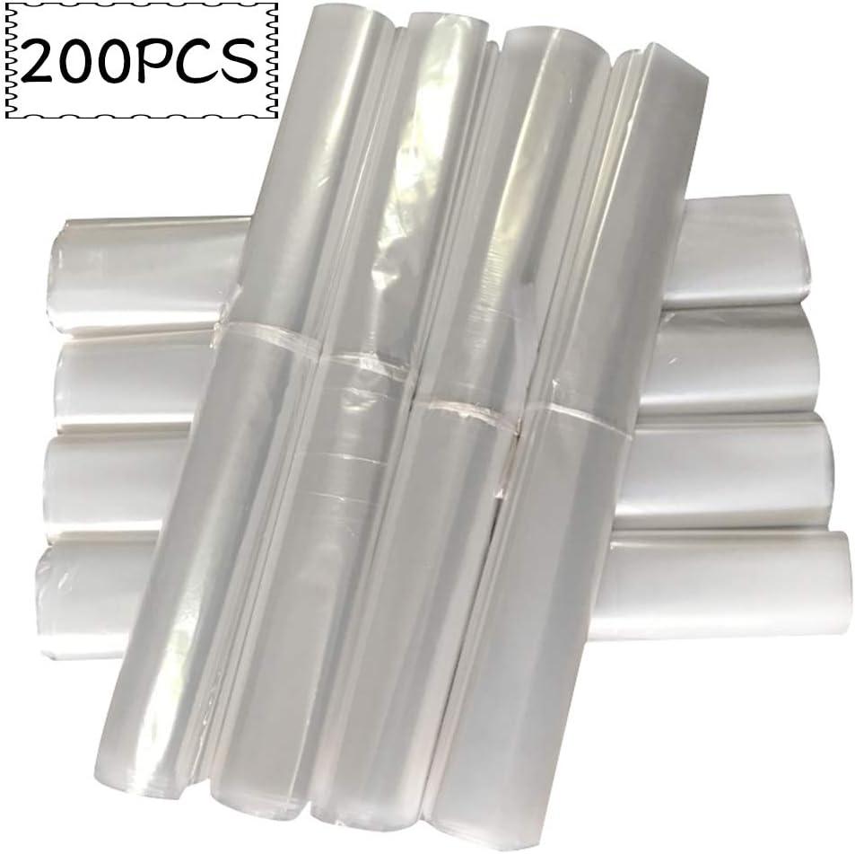 ZDERET Ropa Cubierta para el Polvo Traje de Abrigo Bolsa para el Polvo Pl/ástico Transparente Cubierta para el Polvo Tintorer/ía Capa desechable Bolsillo,100pcs,55x80cm
