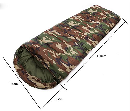 Camouflage Single Person Envelope Sleeping Bag with ...