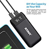 USB C 18650 Battery Charger ALLMAYBE XTAR PB2S Type C Dual-Role 18650 18700 20700 21700 Portable Charger with USB Output Function(Not Included Battery
