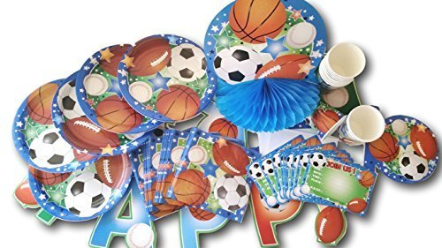 Sports Theme Birthday Party Supply Pack - 70 Piece Set](Sports Theme Birthday Party)