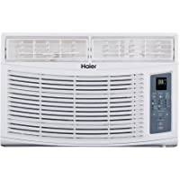 Haier HWR06XCR-L 6,000 BTUs 250 Sq Ft, 3 Fan Speeds, 4-Way Air Direction Air Conditioner, White Color