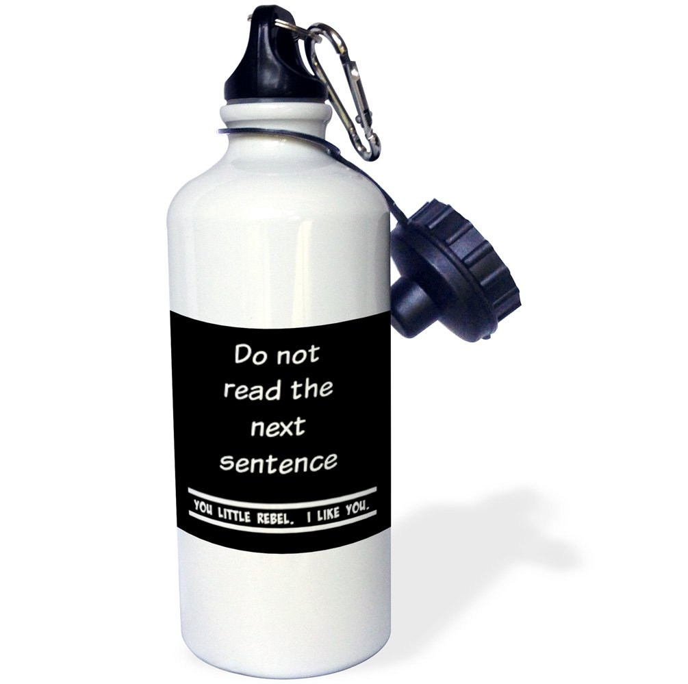 21oz 3dRose Read The Next Sentence You Little Rebel -Sports Water Bottle I Like You Multicolored wb/_218825/_1