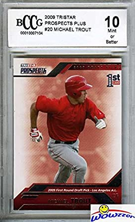 Mike Trout 2009 Tristar Prospects Plus 20 First Ever Rookie Card