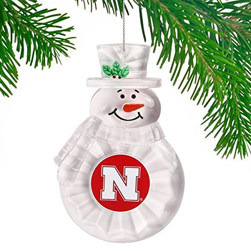 NCAA Nebraska Cornhuskers Traditional Snowman Ornament