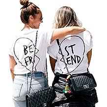 Best Friends T Shirts Women Funny Tumblr Vogue Tops Clothing Teen Girls