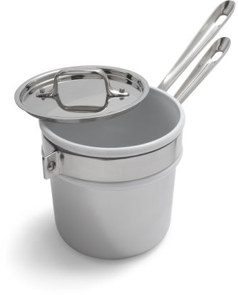 All-Clad® Stainless Steel Double Boiler with Ceramic Insert | Sur La Table