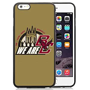 Fashionable And Unique Custom Designed With NCAA Atlantic Coast Conference ACC Footballl Boston College Eagles 1 Protective Cell Phone Hardshell Cover Case For iPhone 6 Plus 5.5 Inch Black