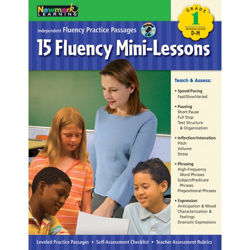Fluency Mini-Lessons Grade 1 with Audio CD (Independent Fluency Practice Passages)