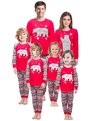 Family Matching Christmas Pajamas Mama/Little/Papa Bear Men L