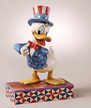 Disney Traditions by Jim Shore Patriotic Donald Duck Figurine, 7-3 4-Inch