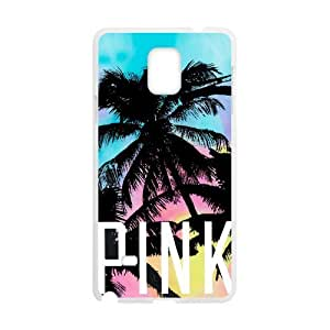 Canting_Good Tropical Scenery Coconut Palm Trees Coconut Palm Trees Love Pink Custom Case for SamSung Galaxy Note4 (Laser Technology)