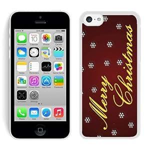 Iphone 5C Case,5C cases,Merry Christmas Iphone 5C Case White Cover